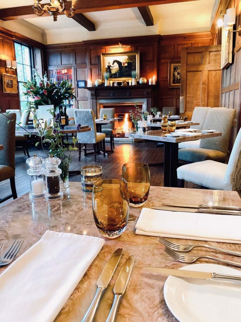 Burleigh Court Restaurant near Stroud in the Cotswolds with Afternoon Tea